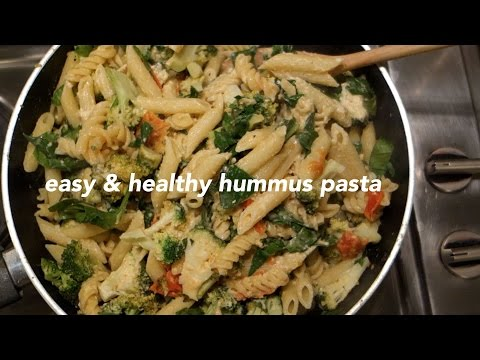 Easy, Healthy Hummus Pasta (Vegan/Plant-based)