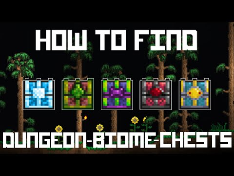 Terraria 1.3 - How to find Dungeon-Biome-Chests quick!
