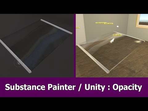 Substance Painter 2 Opacity Glass for Unity 5