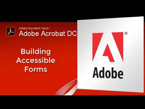 Accessibility Basics for Adobe Acrobat Pro forms (part 1)