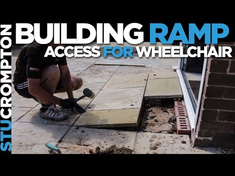 Building wheelchair ramp access to doors