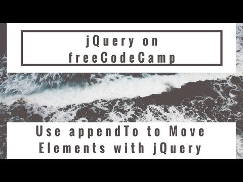 Clone an Element Using jQuery, jQuery in freeCodeCamp