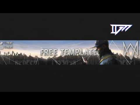 BANNER TEMPLATE WATCH DOGS 2 | FREE WATCH DOGS 2 BANNER TEMPLATE | FREE DOWNLOAD | PHOTOSHOP
