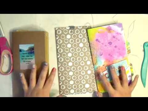 How to make travelers notebook inserts with a junk journal feel.