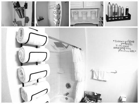 DIY Small Bathroom Makeover: Spa inspired Decor Ideas