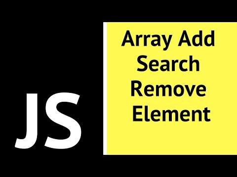 JavaScript - How To Add Search Remove Array Item In JS [ with source code ]