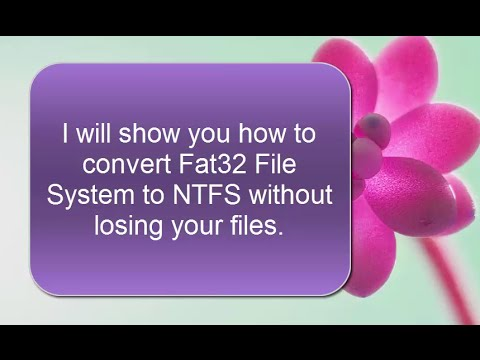How to Convert USB Flash Drive Fat32 File System to NTFS Without Formatting