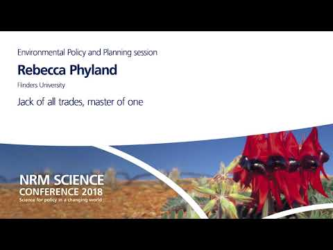 Day 1 - Environmental Policy and Planning - Rebecca Phyland
