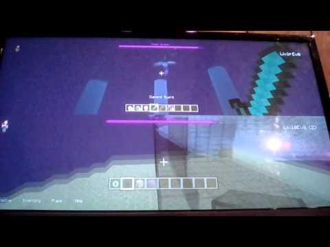 Defeating Enderdragon Vid.1 Minecraft PS3
