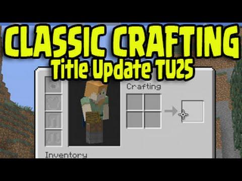 Minecraft PS3, PS4, Xbox - CLASSIC CRAFTING Title Update Menu Gameplay Showcase Tutorial