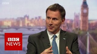 Jeremy Hunt (FULL) interview on Andrew Marr Show - BBC News