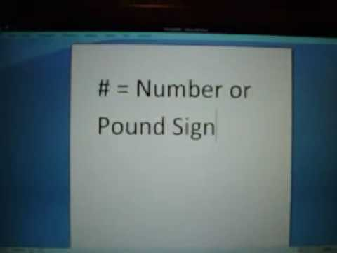 Number or Pound Sign