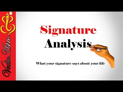 Signature Analysis : What Your Signature says about your life | Handwriting Analysis