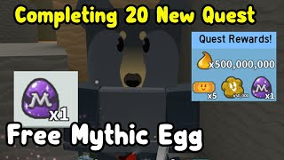 Got Free Mythic Egg! Completing New Black Bear Mythic Quests - Bee Swarm Simulator
