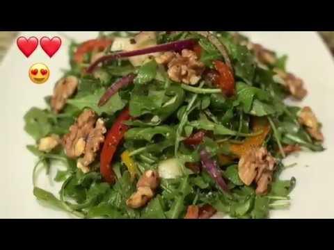 The Best ARUGULA SALAD with Homemade Honey Vinaigrette Salad Dressing