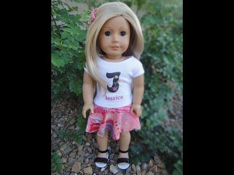 No Sew Circle Skirt for American Girl Dolls