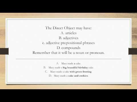 Session Three- Direct Objects, Object Complements, and Indirect Objects