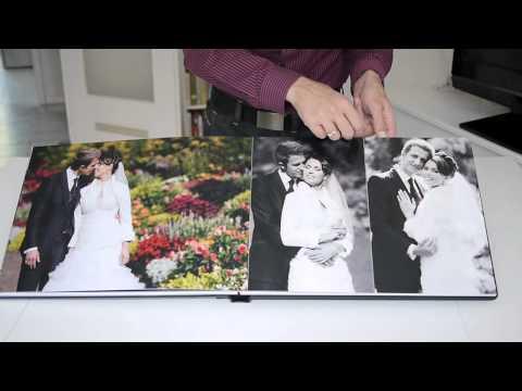 Hochzeitsalbum aus Echtleder mit Acrylglascover