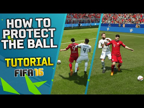 FIFA 16 TRICK - HOW TO PROTECT THE BALL TUTORIAL & HOW TO PUSH OPPONENTS IN FIFA 16 / TIPS & TRICKS