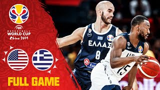 Walker & Team USA sail past Giannis & Greece - Full Game - FIBA Basketball World Cup 2019