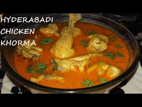 Hyderabadi Chicken Korma/Khurma - Authentic & Rich Hyderabadi Chicken Curry By Cook With Fem