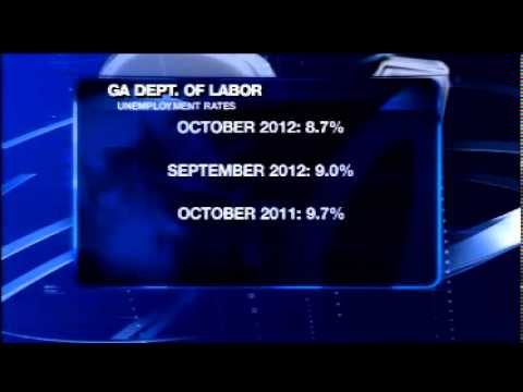 Georgia's unemployment rate falls to 8.7% for October