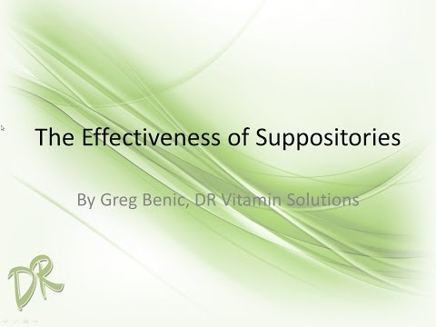 The Effectiveness of Suppositories
