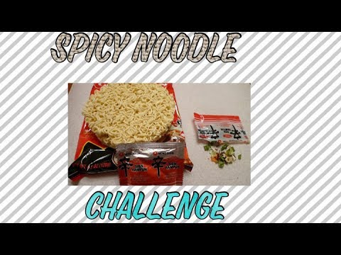 Spicy noodle challenge 😱~BeautybyDelores