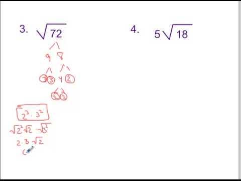 6.1 Simplest Radical Form