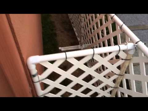 How to make a PVC dog run