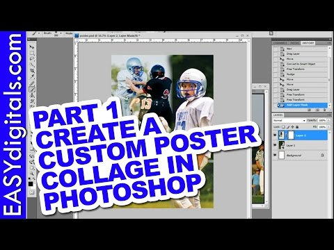 Part 1 of 3 Create a custom poster collage in Photoshop