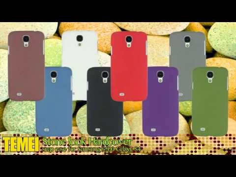 TEMEI stone look hardcover snap case for Samsung i9500 Galaxy S4
