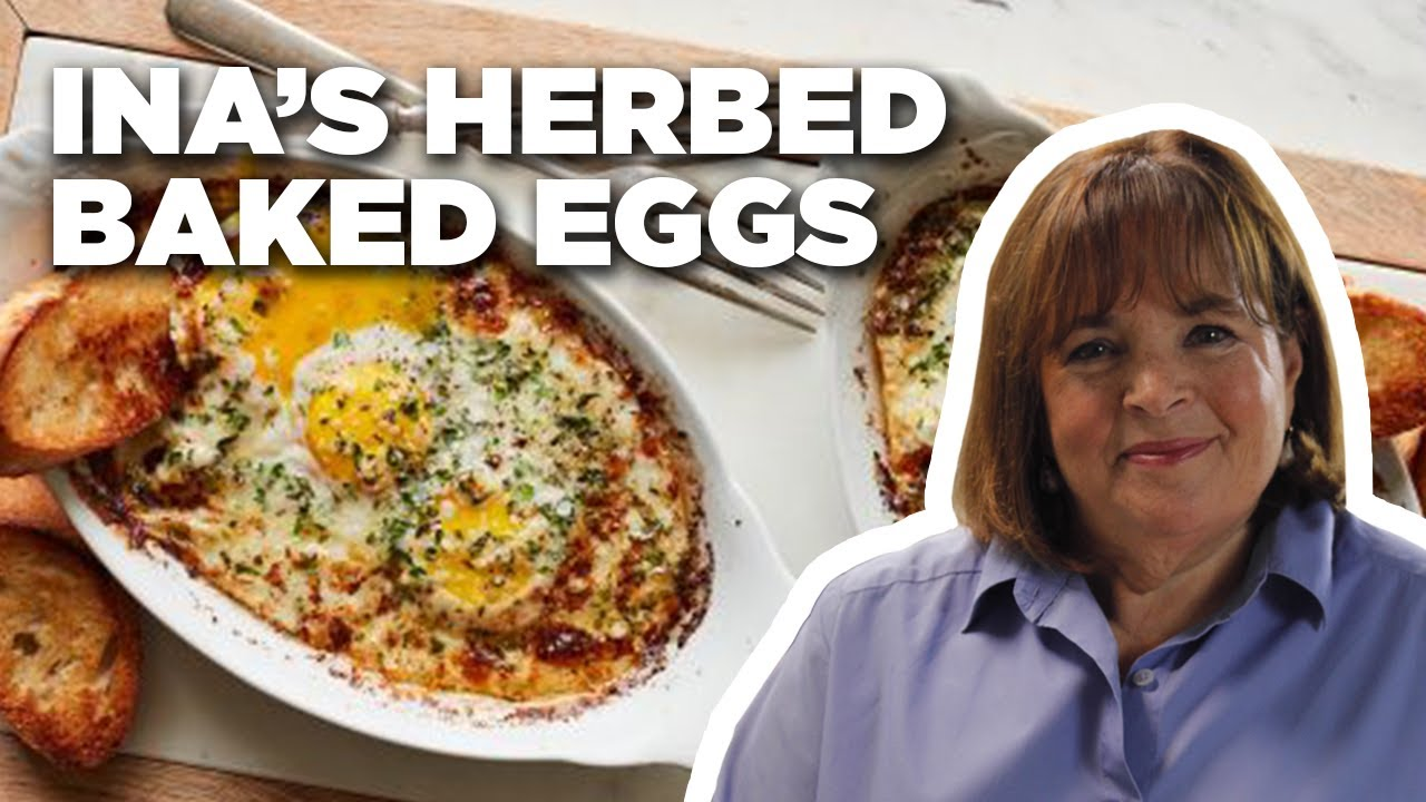 Herb-Baked Eggs with Ina Garten | Barefoot Contessa | Food Network