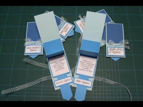 Waterfall card -Inviti battesimo - baptism invitations - DIY - scrapbooking