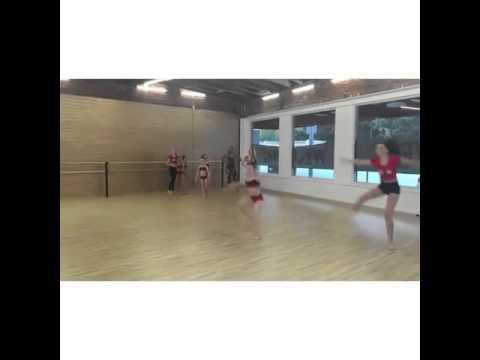 The Dance Moms Girls Doing Straddle Leaps Across The Floor! #ALDCLA