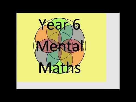 Y6 Mental Maths