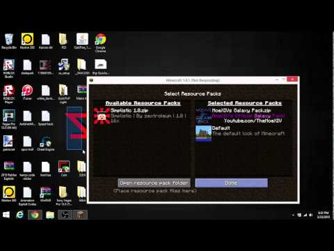Galaxy Resource pack + How to install resource packs in minecraft 1.7.10 - 1.8.3