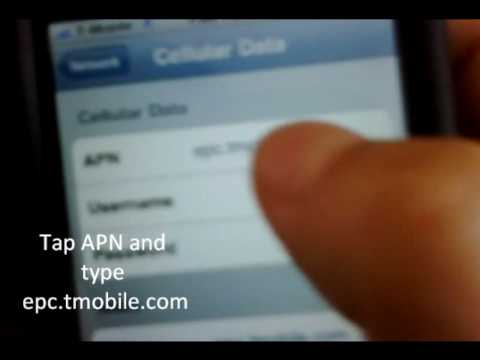 iPhone 3g T-mobile MMS and Internet Configuration Settings