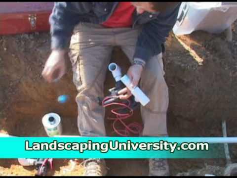 Installing an Irrigation Valve Box and Valves