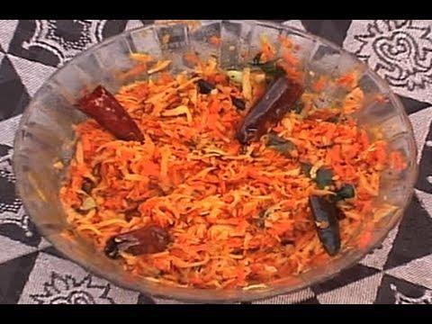 Recipe - Carrot Coconut Mango Chutney Recipe With English Subtitles