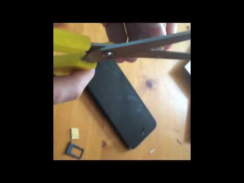 How To Cut Micro Sim Into Nano Sim iphone5/5c/5s