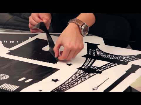 Wall stickers with Paris theme