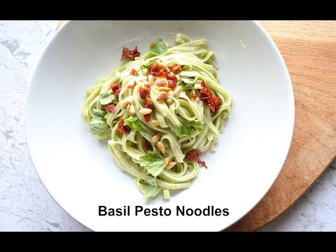 Basil Pesto Noodles with Sun-dried Tomatoes Recipe