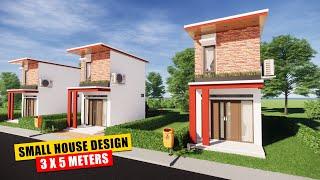 Small Modern House Design 8x10 Meter