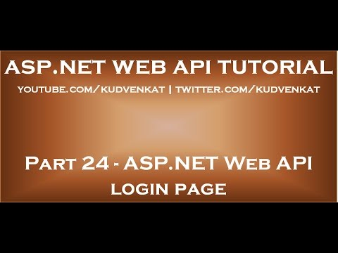 ASP NET Web API login page