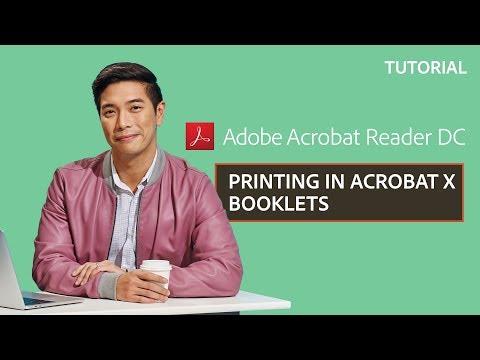 Printing in Acrobat X: Booklets