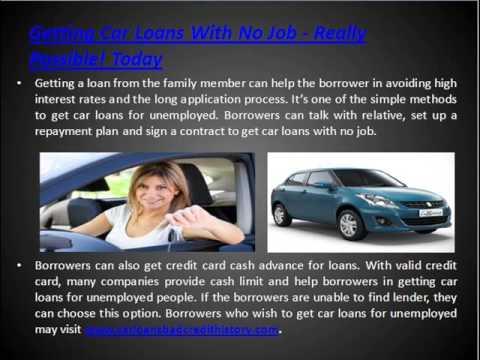 Car Loan With No Job