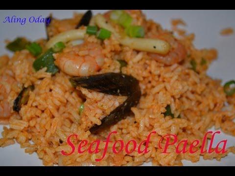 Seafood Paella (Filipino Version)