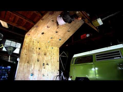 Climbing Practice in the Garage