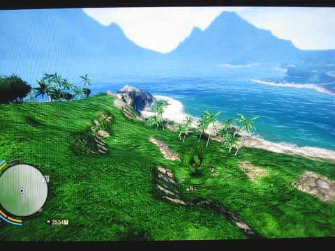 Proximity Flight through Durdle Door from Doctors House Far Cry 3 .AVI